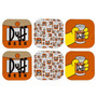 Porta-copos The Simpsons - Duff Beer - 6 Peças - Em Vidro