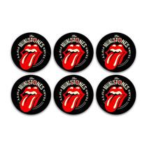 Conjunto 6 Porta-copos Rolling Stones Em Cortiça