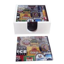 Conjunto Porta-copos Rótulos De Cerveja