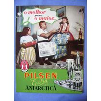Antiga Propaganda Cerveja Antarctica - Original - Toddy