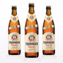 Kit 3 Cervejas Importada Erdinger Tradicional - 500 Ml Alemã