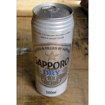 Latão Cerveja Sapporo Extra Dry - Japão- Cheia -1990