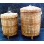 Cesto De Roupa-bambu - 02 Peças
