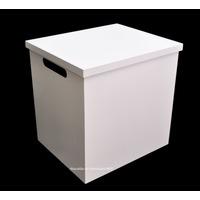 Caixa Quadrada Presente C/ Alça Brc 30x25x30 - Mdf - Madeira