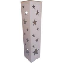 Coluna Estrela E Luminária - Casamento E Festas Mdf - Crú