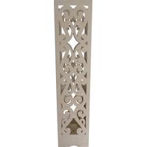 Coluna Decorativa E Luminária - Casamento E Festas Mdf - Crú