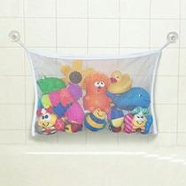 Cesto Brinquedos P/ Banheiro Com Ventosas Organiza Porta