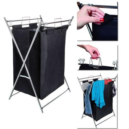 Cesto de roupa suja dobr vel organizador banheiro - Organizador de lavanderia ...