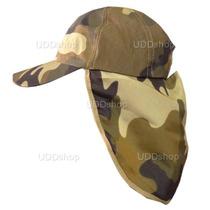 Chapéu Boné Camuflado Exército C/ Protetor De Nuca