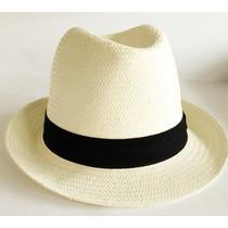 Chapéu Moda Panamá Praia Casual Aba Curta Masculino Feminino
