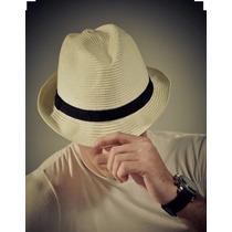 Chapéu Estilo Panamá Fedora Aba Curta Masculino Feminino