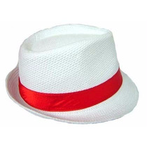 Chapéu Panamá Moda Carioca Importado Fita Colorida Aba Curta