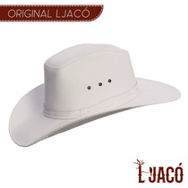 Chapéu De Couro Americano Branco Country Feminino Ljam00