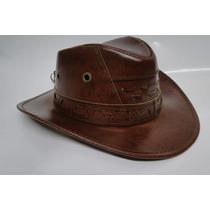 Chapeú Femino Masculino Couro Legítimo-chapéu Rodeio Cowboy