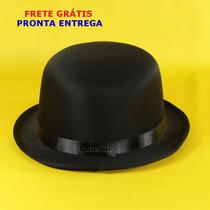 Chapéu Chaplin Cetim Luxo / Chapéu De Côco Com Frete Grátis