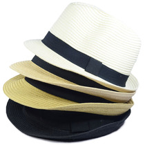 Chapéu Fedora Estilo Panamá Aba Curta Masculino Feminino