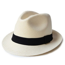 Chapéu Masculinino Feminino Moda Panamá Praia Aba Curta