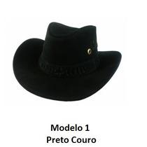 Chapéu Country Rodeio 100% Couro Varias Cores Menor Preço