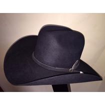 Chapéu Cowboy 10x Prada Em Feltro Preto Com Banda Montana