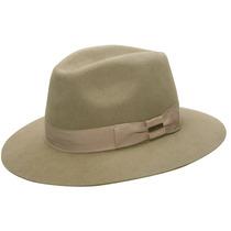Chapéu Pêlo De Lebre Masculino Top Cáqui-tamanho 54