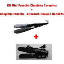 Kit Chapinha Ceramica + Mini Pracha Alisadora 110v
