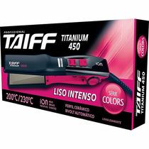 Prancha Chapa Taiff Titanium 450 Colors Bivolt 230º Rosa