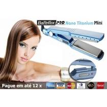 Prancha Chapinha Babyliss Pro Nano Titanium Mini 1/2 Bivolt