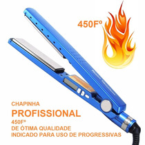 Chapinha Prancha Azul Nano Titanium Profissional