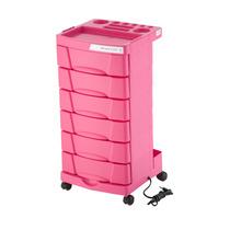 Carrinho Dompel Beauty Care Cor Pink 06 Gavetas E Tomada