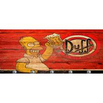 Quadro E Porta Chaves Bar Cerveja Duff Homer Simpsons