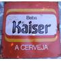 Placa Antiga De Cerveja- Latão - Vermelha - Ax