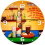 Relógio Parede Bar Pinga Cachaça Caninha 51 Tamanho Grande
