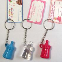 Kit 30 Chaveiros Mamadeira Lembrancinhas Maternidade Com Tag
