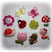Jardim Encantado Bibiella - Kit C/ 5 Lembrancinhas De Feltro