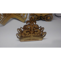 Porta Guardanapos Coroa Mdf Cru- Enfeite De Mesa