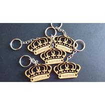 Chaveiro Coroa Personalizado Em Mdf