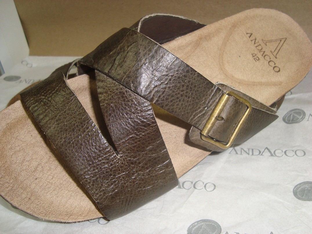 Chinelos De Couro ~ Chinelo Masculino De Couro Andacco Sandalia R$ 69,90 no MercadoL