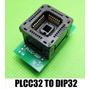 Adaptador Socket Plcc32 Zif Dip32 Eprom Bio Willem Universal