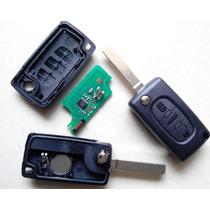 Chave Canivete Citroen Completa Chip Id46 433 C2 C3 C4 C5 C6