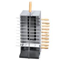 Churrasqueira Gas Inox Vertical Infravermelho 10 Espet Grego