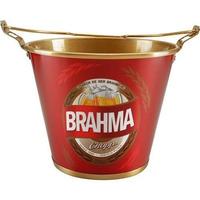 Balde De Alumínio P/ Gelo E Cerveja Brahma C/ Alça E Abridor