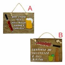 Placa Resina Vários Modelos- Cerveja- Churrasco- Area Lazer