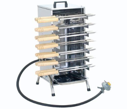 Churrasqueira A Gás Em Aço Inox Churrasco Sem Fumaça Cozinha