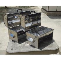 Churrasqueira Portátil Em Aço Inox Aisi 430| 40 X 30 X 25|