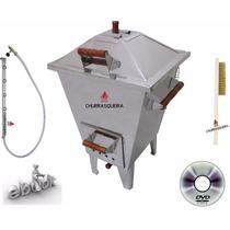 Churrasqueira Bafo 32 Kg + Kit Gás. Aço Inox 430. Excelente*