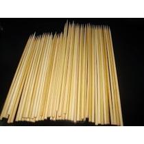 Espeto De Bambu 28cm - Cx. Com 1.000 Palitos / Frete Grátis