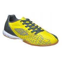 Tênis De Futsal Umbro Versus - Amarelo/cinza