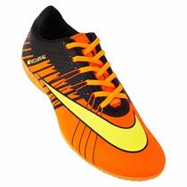 Chuteira Futsal Nike Mercurial Superfly 2 - Laranja E Amarel