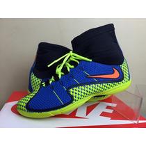 Chuteira Tenis Nike Futebol Futsal Salão Botinha Cano Longo