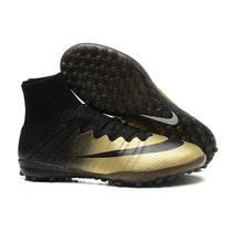 Chuteira Nike Mercurial Superfly Cr7 Gold Botinha - Society